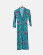 Maxi vestido camisero verde estampado floral Atelier