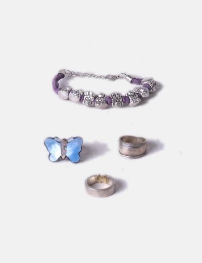 Pack pulsera con anillos NoName