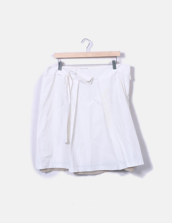 con Faldas Intropia baratas lazo blanca midi Falda online Hoss UEPaaq 847658108ad9