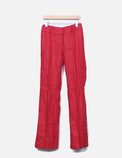Pantalon rojo recto Zara