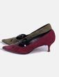 Chaussure à talon deux couleurs Manolo Blahnik