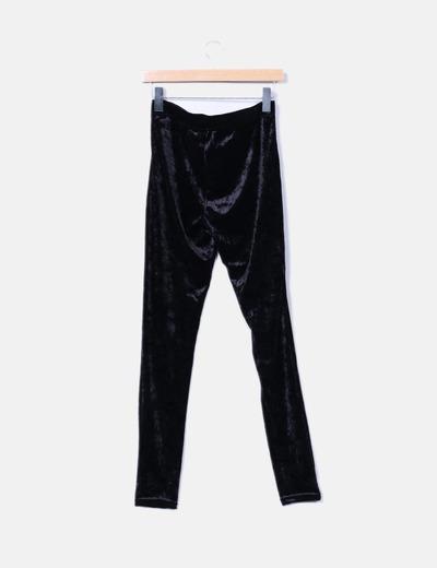 Legging negro terciopelo