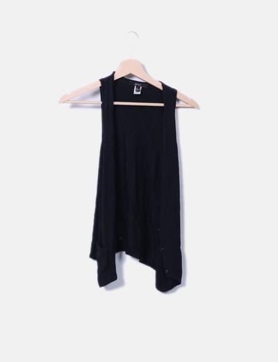 Gilet noir en tricot Mango