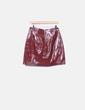 Falda roja glossy Zara