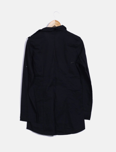 Blusa negra manga larga