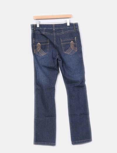 Jeans azul oscuro recto