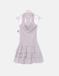 Vestido beige combinado crochet Bianco e Nero