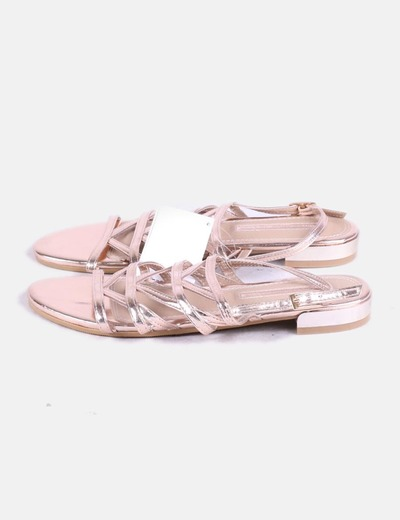Sandales roses métalliques Suiteblanco