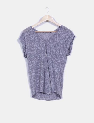 Camiseta básica manga corta estampado animal print NoName