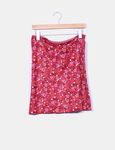 Falda midi floral Pimkie