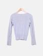 Chaqueta tricot gris básica Bershka