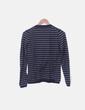 Jersey tricot de rayas gris y azul marino Massimo Dutti