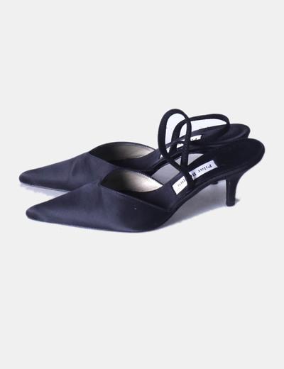 5ca03dfc9 Pilar Burgos Zapato negro destalonado con puntera (descuento 77 ...