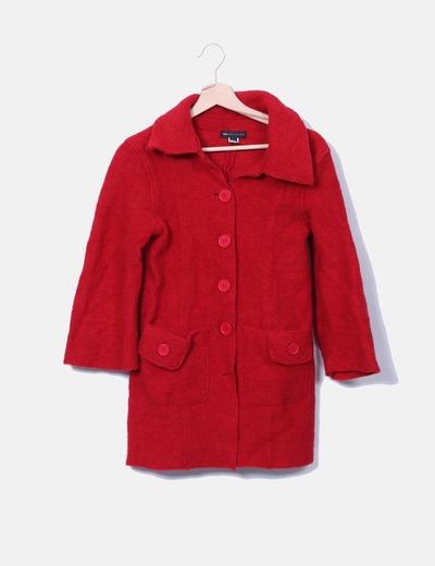 Abrigo largo rojo Mango