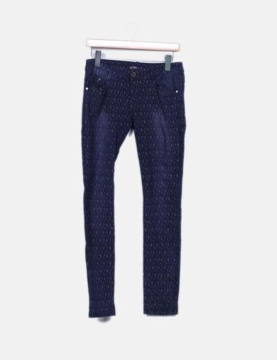 Jeans denim oscuro estampado Miss Sister