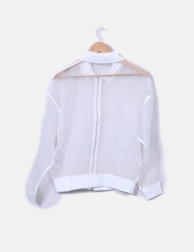 2ceaff1a5bb Zara Chaqueta bomber tul blanco (descuento 71%) - Micolet