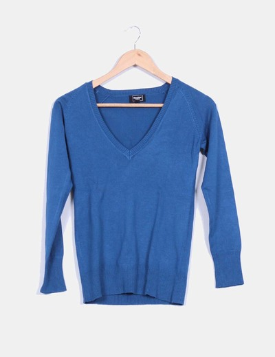 Tricot azul manga larga Suiteblanco