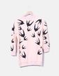 Sudadera rosa print birds Sheinside