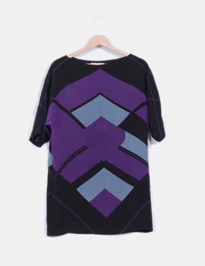 Vestido multicolor con estampado geométrico  BDBA