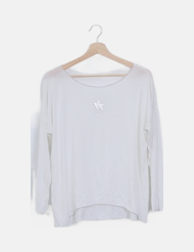Jersey blanco fluido print