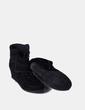 Sneaker avec coin de en daim noir Suiteblanco