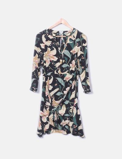 Vestido de gasa con print floral