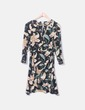 Vestido de gasa con print floral Hoss Intropia