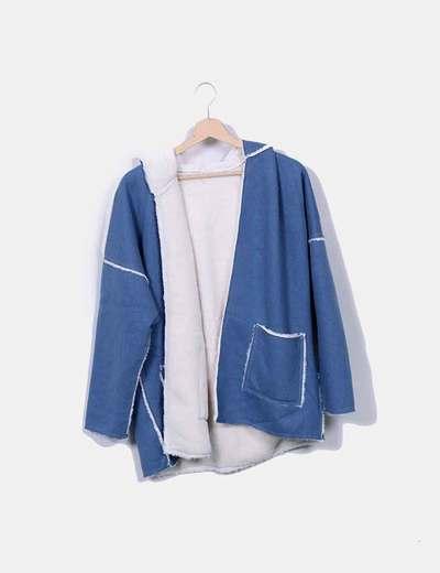 Chaqueta azul con pelo NoName
