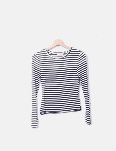 Camiseta tricot rayas