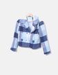 Conjunto de chaqueta y falda de cuadros NoName