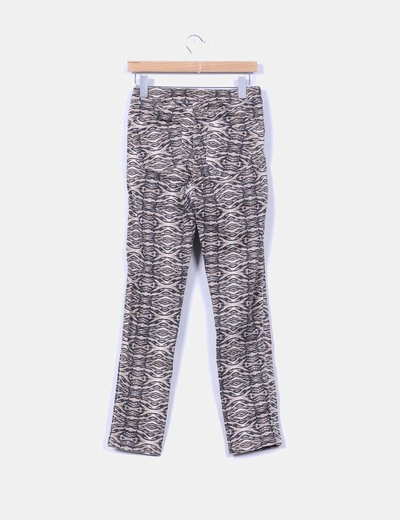 Leggings marron animal print