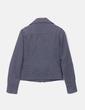 Abrigo corto de paño gris Bershka