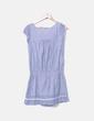 Vestido midi azul combinado con crochet NoName