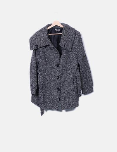 Abrigo blanco y negro jaspeado K Woman