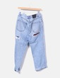 Jeans mom fit ripped detalle cuadros Pull&Bear