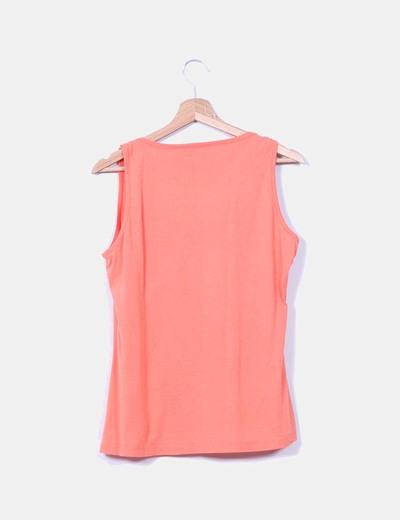 Camiseta naranja con puntilla