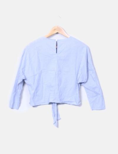 0ca705d25 Bershka Blusa manga larga de rayas bicolor (descuento 81%) - Micolet