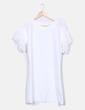 Vestido fluido blanco mangas de volante Suiteblanco