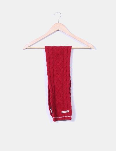Bufanda roja de punto Quicksilver
