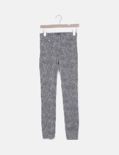 Jeans skinny animal print