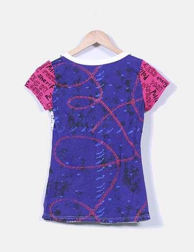 Camiseta estampada hormigas bordadas