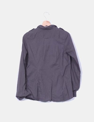 Camisa gris marengo manga larga