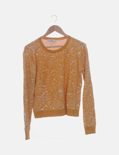 Suéter texturizado amarillo