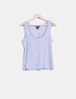 T-shirt gris avec strass H&M