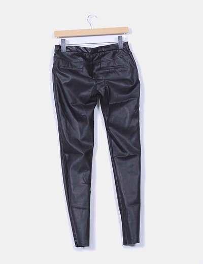 Pantalon polipiel negro