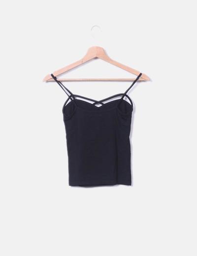 50-70% de descuento numerosos en variedad venta usa online Camiseta negra de tirantes