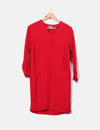Vestido rojo manga larga Bimba&Lola
