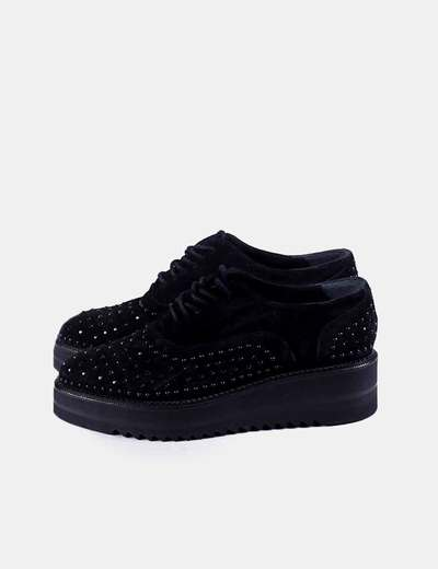 Zapato negro strass plataforma