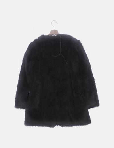 código promocional f2d13 c0aae Abrigo de pelo negro
