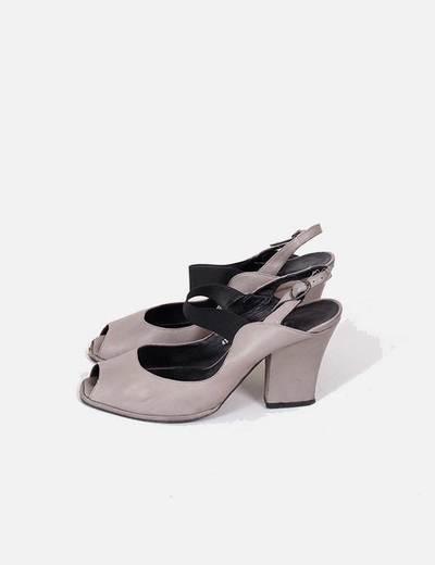 3de7cdab9497 NoName Zapatos de tacón abiertos grises (descuento 92%) - Micolet